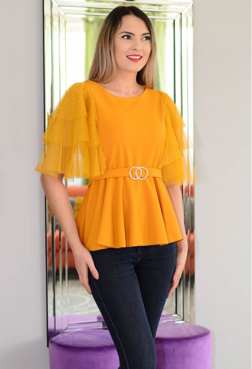 Bluza Gorgeous Sleeve Mustard
