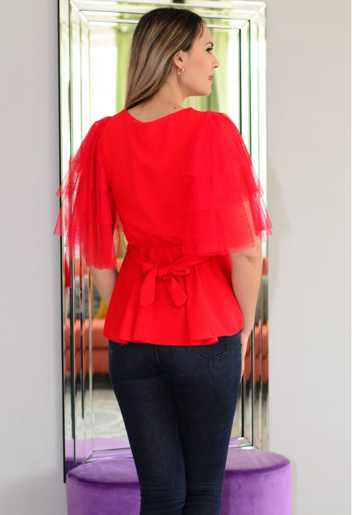 Bluza Gorgeous Sleeve Red