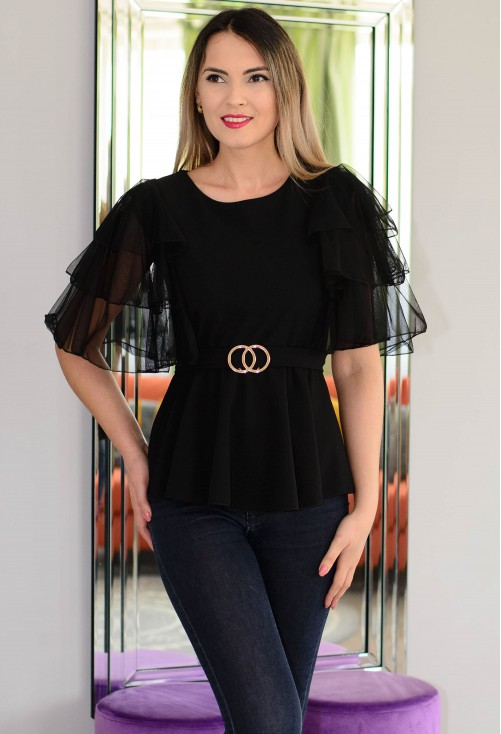 Bluza Gorgeous Sleeve Black