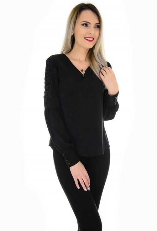 Bluza Memorable Sleeve Black