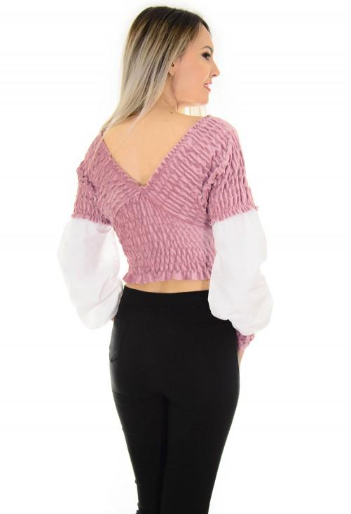 Bluza Velvet Desire Pink