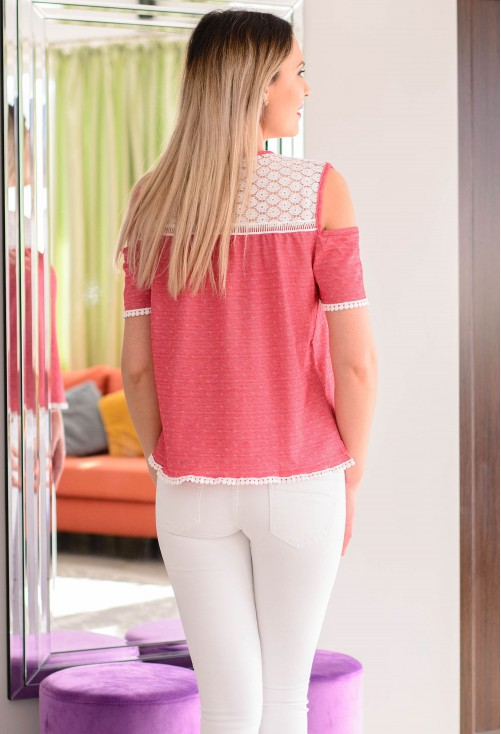 Bluza Lace Up Red