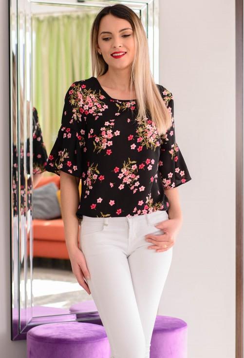 Bluza Smart Flowers Black