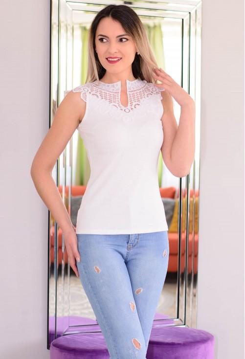 Tricou Upper Lace White