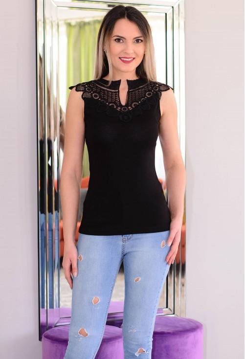 Tricou Upper Lace Black