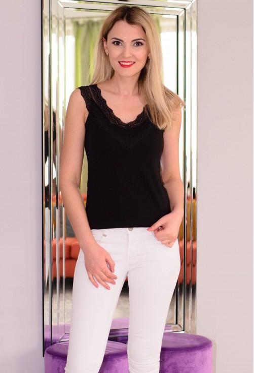Top Elegant Lace Black