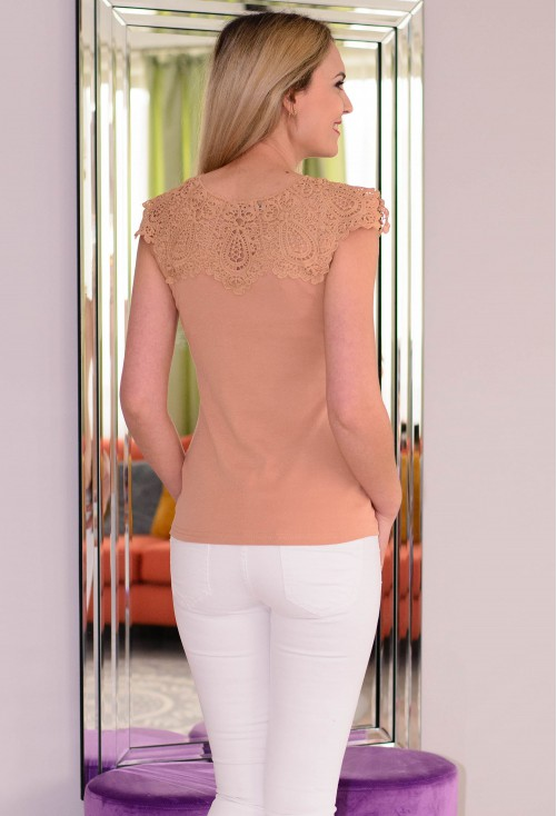 Tricou Special Lace Camel
