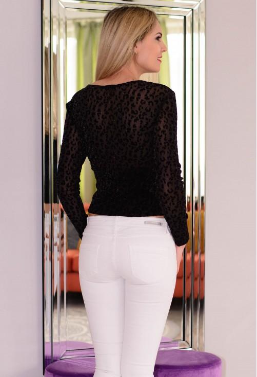 Bluza Velvet Animal Print Black