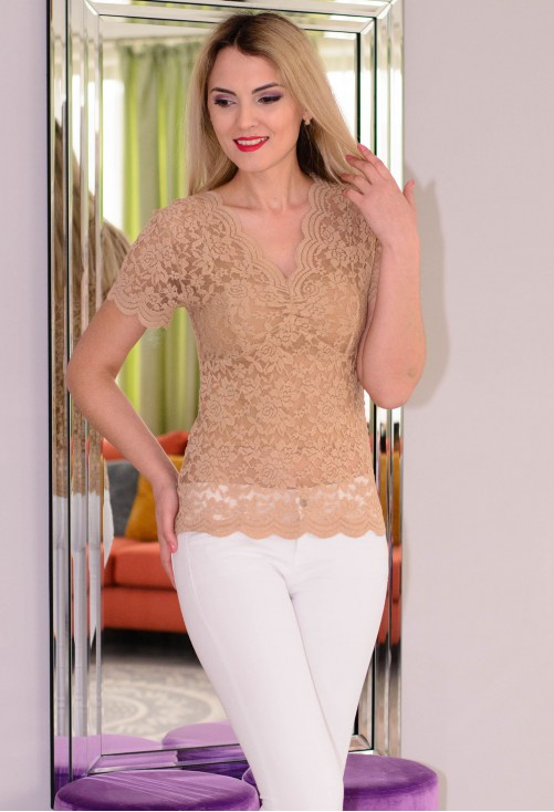 Bluza All Lace Camel