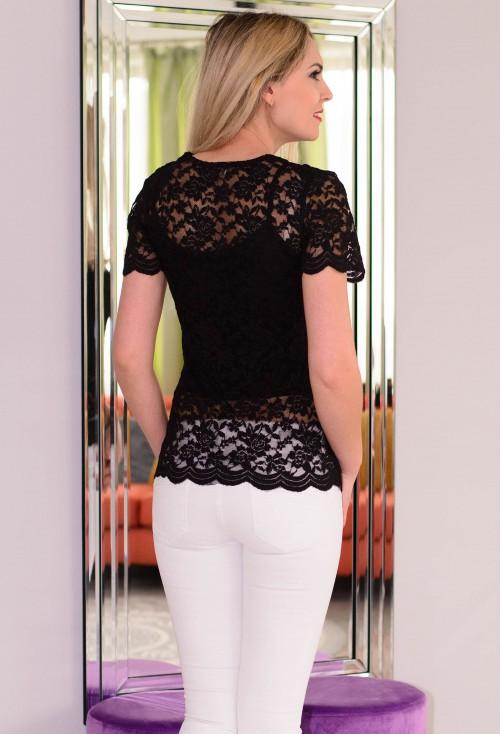 Bluza All Lace Black