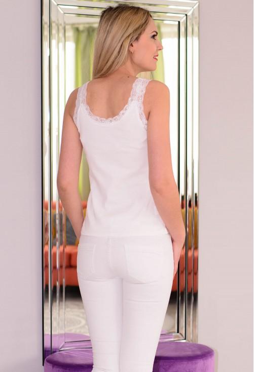Top Discret Lace White