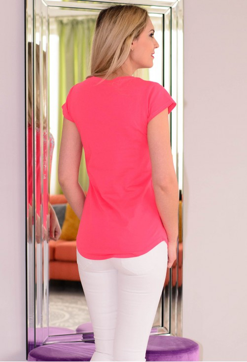 Tricou Crystal Butterfly Pink