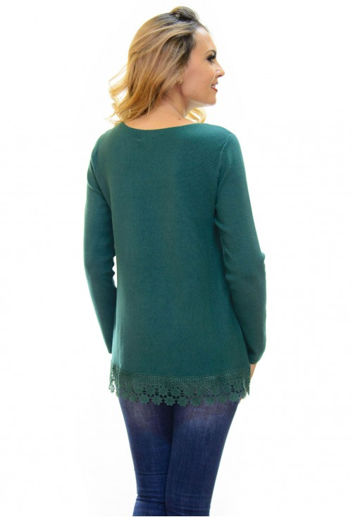 Pulover Sparkle Lace Green