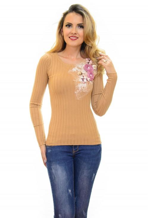 Pulover Flower Mood Caramel