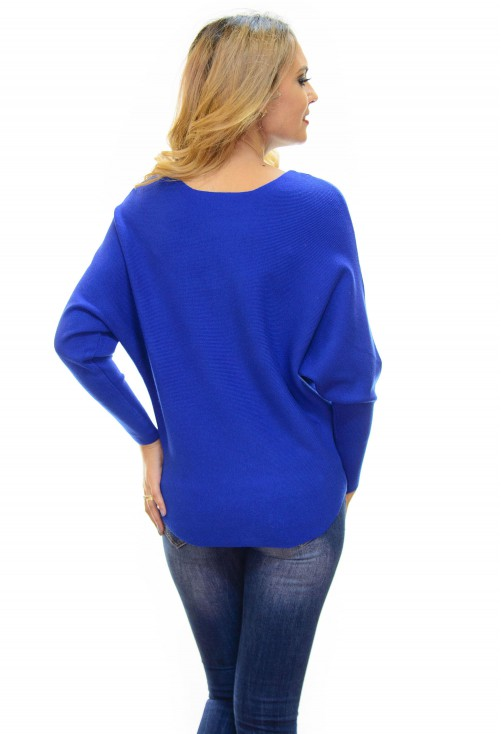 Pulover Flower Design Blue