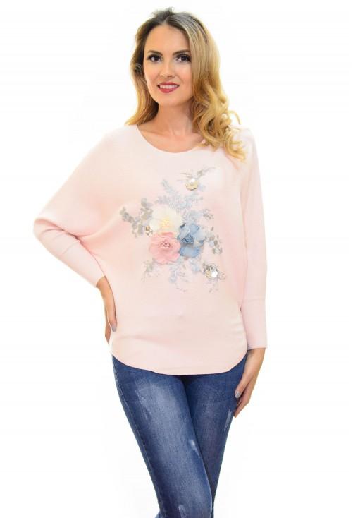 Pulover Flower Design Rose