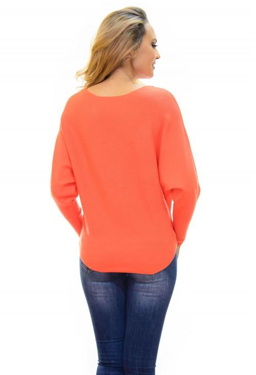 Pulover Flower Design Orange