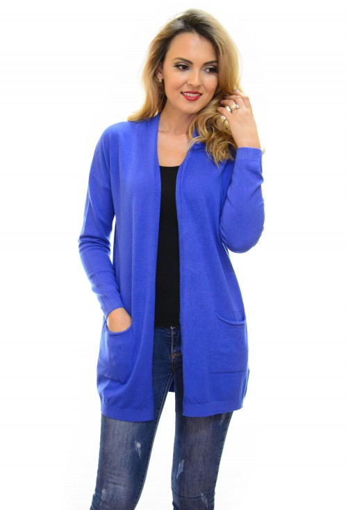 Cardigan Trick Quote Royal Blue