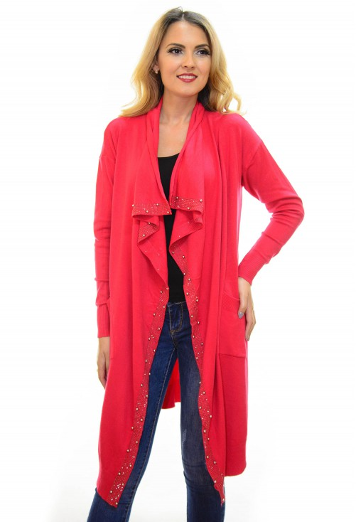 Cardigan Sparkle Base Red