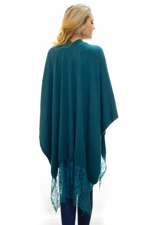 Poncho Loose Ends Green