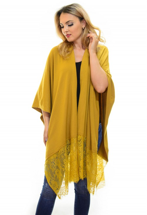 Poncho Loose Ends Mustard