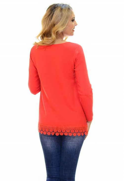 Pulover Sparkle Lace Red