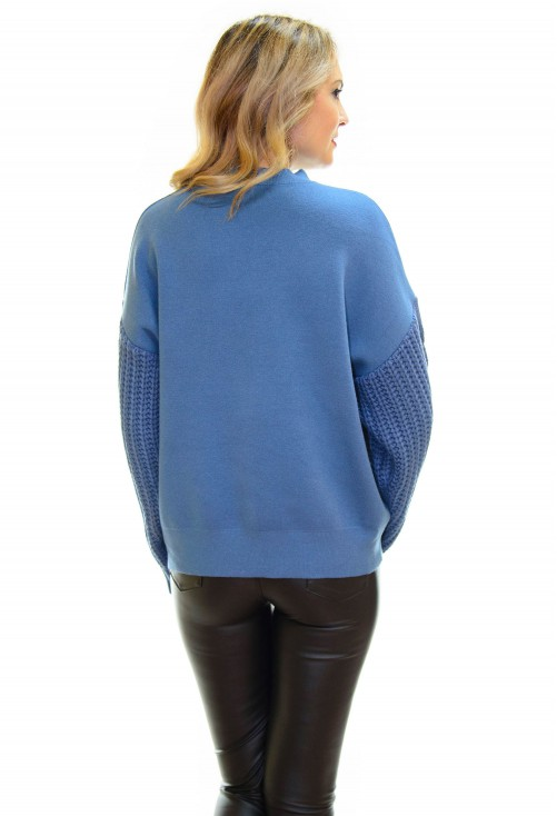 Pulover Thick Sleeve Teal