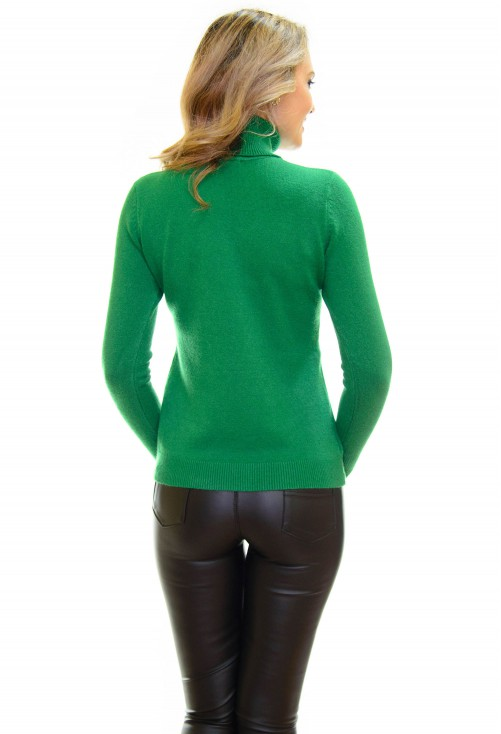 Pulover Cat Neck Green