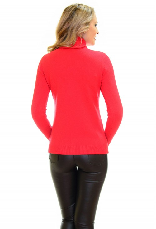 Pulover Cat Neck Red