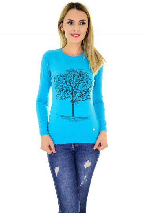 Pulover Life Tree Blue