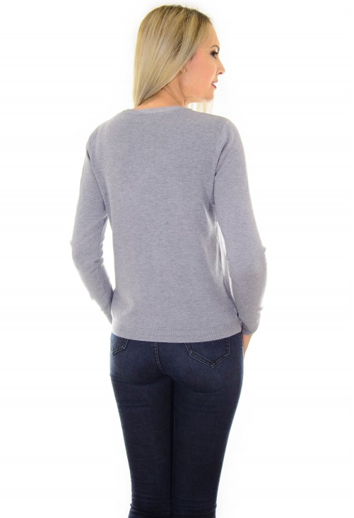 Cardigan Funny Buttons Grey