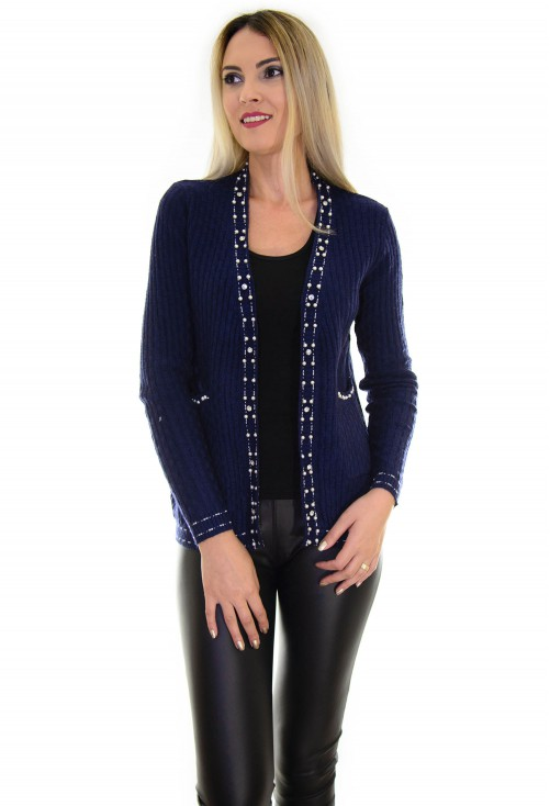 Cardigan Autumn Pearls DarkBlue