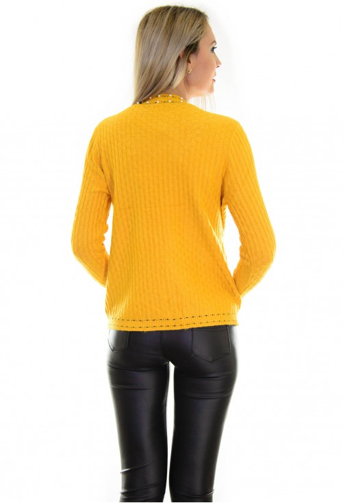 Cardigan Autumn Pearls Mustard
