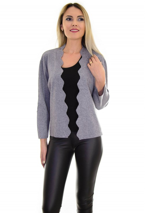 Cardigan Beautiful Waves Grey