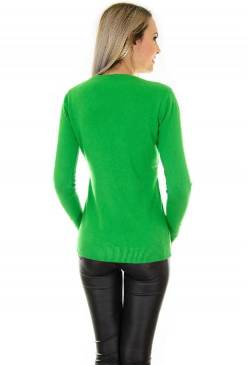 Pulover Raindrops Green