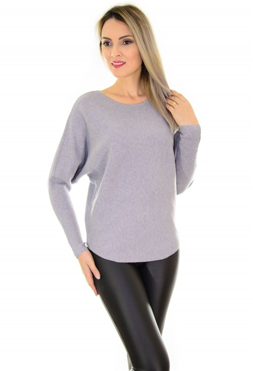 Pulover Butterfly Cut Grey