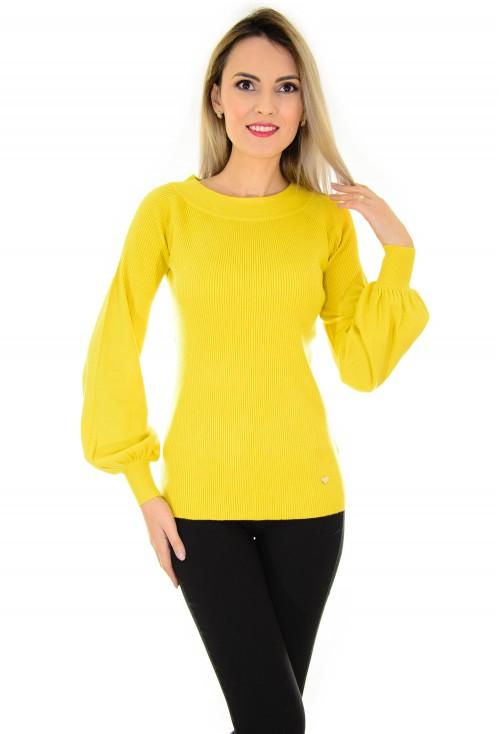 Pulover Harmony Sleeve Mustard