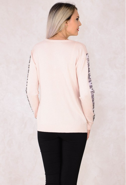 Cardigan Silver Shimmer Pink