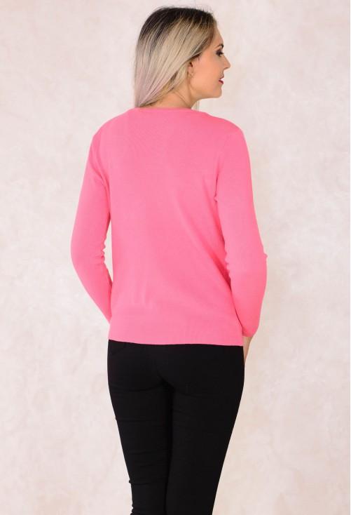 Cardigan Golden Pockets Pink