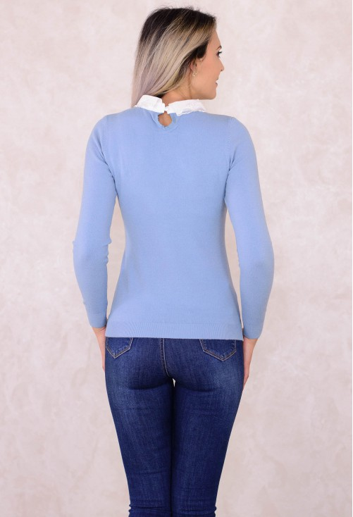 Pulover Sublime Neck Blue