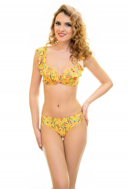 Costum De Baie Flower Yellow