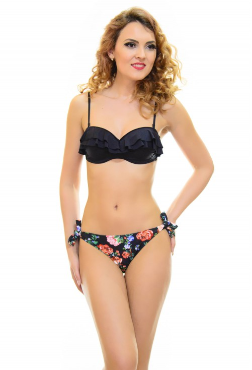 Costum De Baie Wavy Black