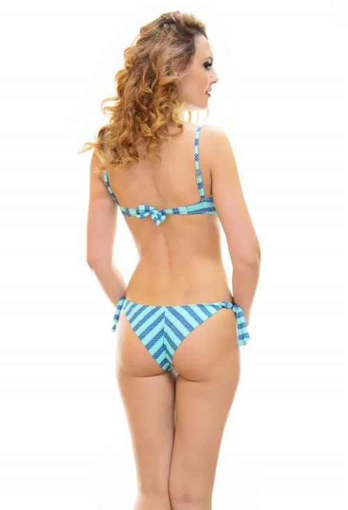 Costum De Baie Tropical Turquoise