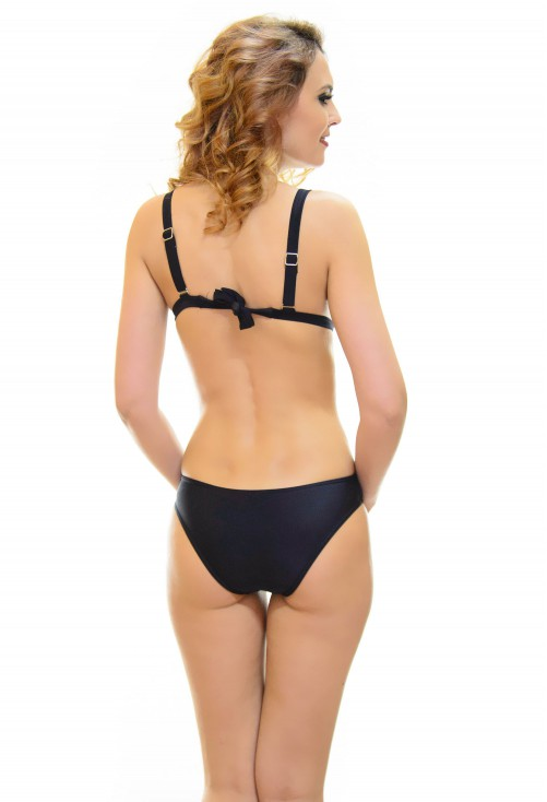 Costum De Baie Simple Detail Black