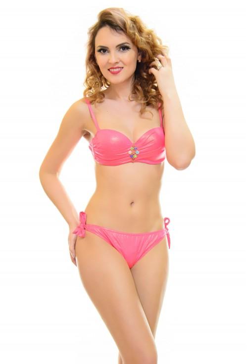 Costum De Baie Best Team Pink