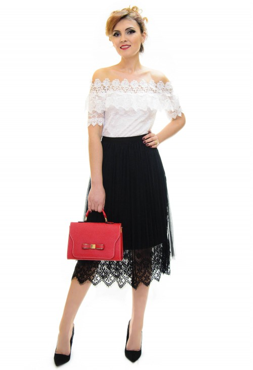 Fusta Belle Lace Black