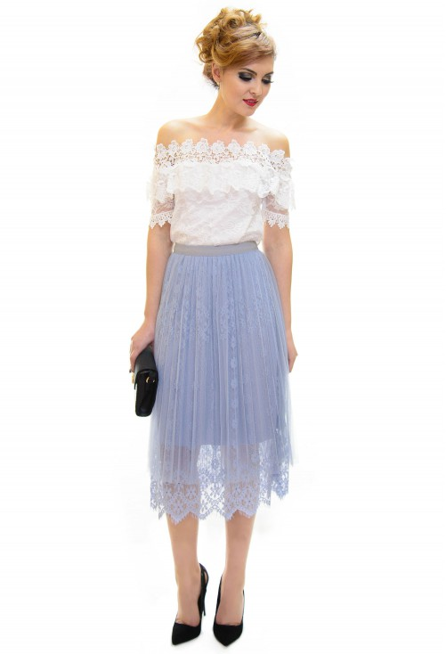 Fusta Belle Lace Blue