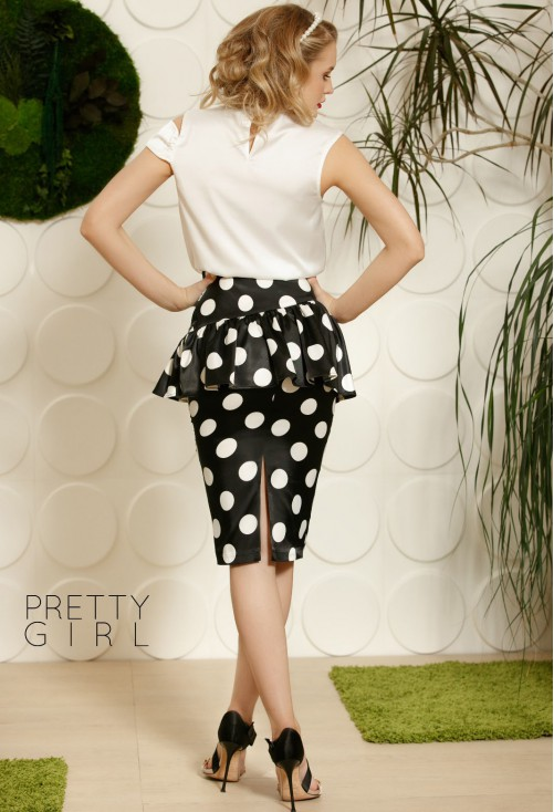 Fusta Pretty Girl Peplum Bubbles