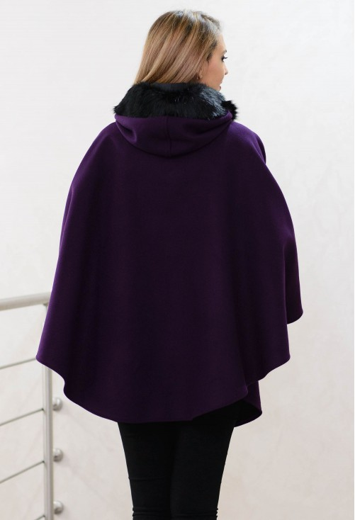 Poncho Time Elapse Purple