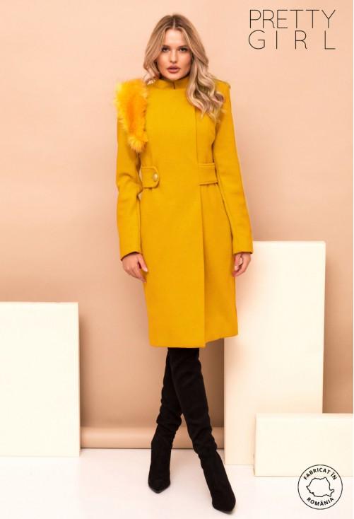Palton Pretty Girl Queen Of Ice Yellow
